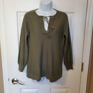 The Loft Olive Light Sweater Size S